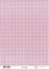 kn/1888- A4 achtergrondvel Marjoleine rode ruit  -  117141/1065