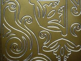 st1056- grote hoeken goud 10x20cm
