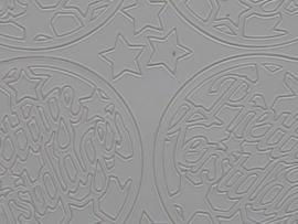 152- kerstbal met tekst wit 10x20cm