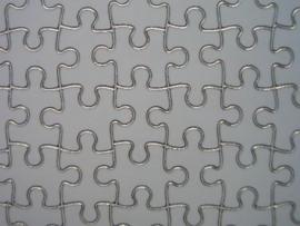 372- puzzelstukjes goud 20x20cm dubbel formaat