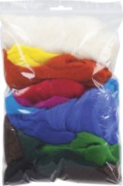 KN212506300- 100gram sprookjeswol mix van 12 kleuren