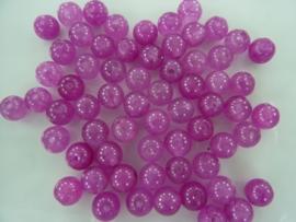 3947- ca. 60 stuks naturel Jade mineraal kralen van 6mm licht violet/fuchsia - SUPERLAGE PRIJS!