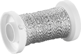 KN216482902- effect draad (bouillon) 0.25mm 50 meter zilver