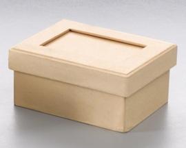 8735 767- 6 stuks ecoshape doosjes rechthoek met passepartout 11.3x8.5x5.4cm