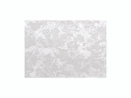 KN218301403- kaarsen versierwas plaatje 17.5x8cm marmer zilver