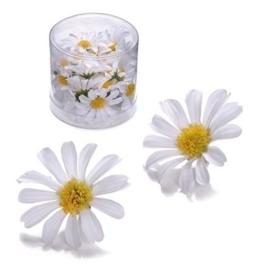 6529 864- 25 stuks decoratie bloemen margrietjes van 4cm wit