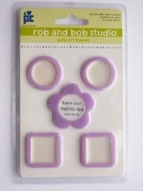 5610- Rob & Bob studio kleine lila lijstjes 2.5x2.5cm