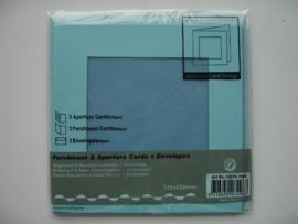 0000108- 3 x vierkanten kaarten met vierkante passepartout en enveloppen