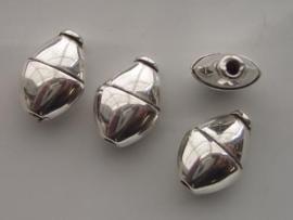 metalen kralen verzilverd 22x14mm 117465/0630