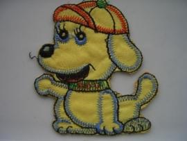 A304- strijk applicatie hondje ca. 8cm AANBIEDING