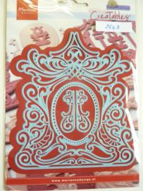 0002543- Marianne Design Creatables stencil nr.277 Petra's mirror 13x11cm OPRUIMING