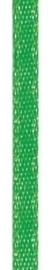 006302/0243- 4.5 meter satijnlint van 10mm breed op een rol groen