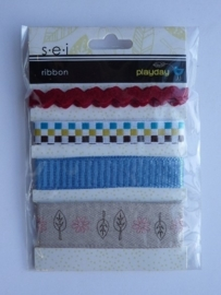"5709- S.E.I ribbons ""playday"" 4 stuks OPRUIMING"