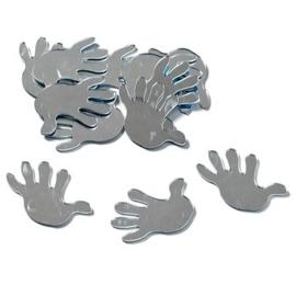 8002 559- 12 stuks spiegelornamentjes handjes zelfklevend 3cm