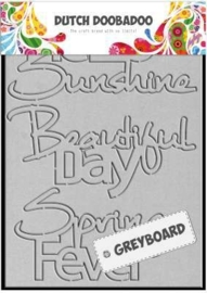 CE185295/2001- Dutch Doobadoo Dutch greyboard hello sunshine A6