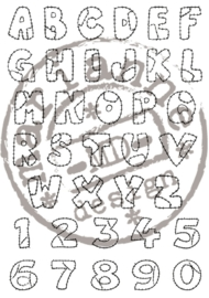 CE180016/0921- Marianne Design clearstamp patchwork alphabet - CS0921