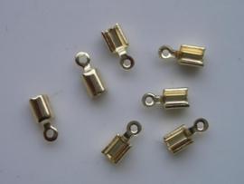 3mm veterklemmen 8 stuks goud  -  11808/1562
