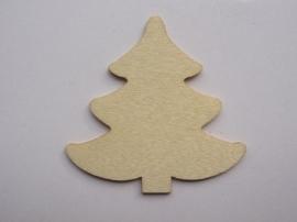 1852 2404.M- houten kerstornament kerstboom 2mm dik en ca. 7cm breed
