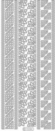 st912- stickervel met randjes en hoekjes goud 10x23cm  -  121001/1034