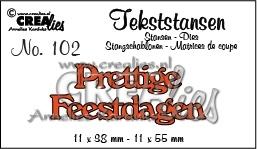 CE115634/3202- Crealies tekststans NO.102 feestdagen 11x55mm