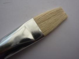 PS408- Gussow varkenshaar penseel plat van 2.2cm breed -12-