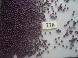 778- 2.3mm glazen rocailles opak donker paars 15gr