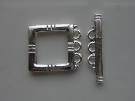 17mm kapittelslot vierkant verzilverd  -  117453/3014