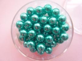 50 x ronde glasparels in een doosje 6mm aqua - 2219 656