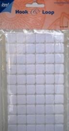6500/0080- klitteband vierkantjes hook & loop 15x15mm