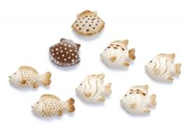 8002 817- 8 stuks stenen zeedieren decoratie van 2-3cm