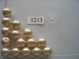15 x glasparels 12mm licht goud 12006/1213