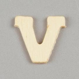 006887/1414- 2cm houten letter V