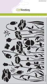 CE185070/1233- Craft emotions mask stencil poppie fields klaprozen A5