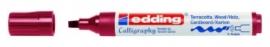 CE391455/0046- Edding-1455 kalligrafie marker flexibel punt 1-5mm roze/rood