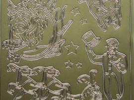 st389- circus goud 10x20cm