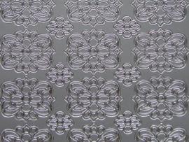 351- kleine ornamenten zilver 10x20cm