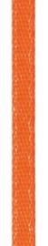 006302/0210- 4.5 meter satijnlint van 10mm breed op een rol oranje