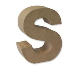 1929 3119- stevige decoratie letter van papier mache - 3D letter S