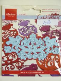 0002480- Marianne Design Creatables stencil nr.170 vogelkroon 10.5x4.5cm OPRUIMING
