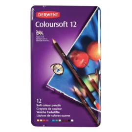 CE325006/0012- Derwent coloursoft pencil 12st blik