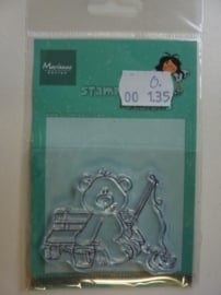 135.O- Marianne Design clearstamp stampfairy AF1112 OPRUIMING