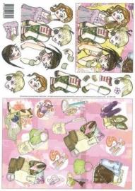 kn/114- A4 knipvel girls -117141/9288