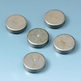 8433 950- 5 stuks sterke magneten van 25mm doorsnee en 3mm dik