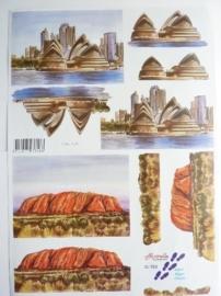 """kn/590- A4 3D knipvel Le suh nouvelle """"vakantie / Australie"""" - no.821588 OPRUIMING"""