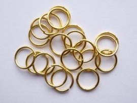 20 x ringetjes 10 mm goudkleur