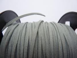 3 meter imitatie suede veter van 3mm breed grijs