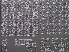 st 404- randjes met hoekjes zilver 10x20cm