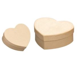 8735 775- 2 stuks ecoshape hartvormige dozen set 14.3x15.4x7.5cm & 12.5x13.3x5.4cm