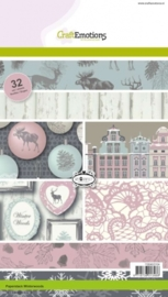 CE118040/0104- 32 vel Craft Emotions paper stack winter woods A5