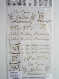 5018- trouwen 25 jaar Rub-on transfer